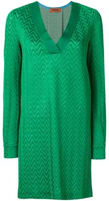Missoni v-neck shift dress