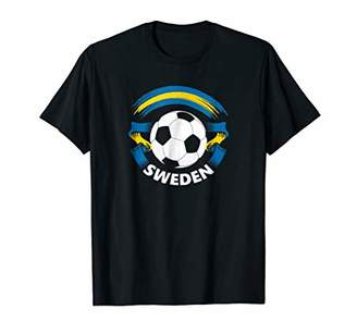 Sweden Soccer Fan T-Shirt with Flag and Football