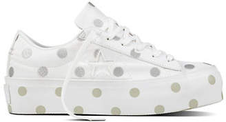 Converse One Star Polka Dot Platform Sneakers
