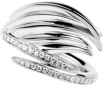 Shaun Leane White Feather silver and diamond ring
