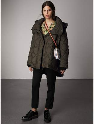 Burberry Detachable Hood Oversized Quilted Jacket