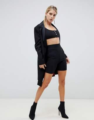 Asos DESIGN slinky rib legging short with super high waist