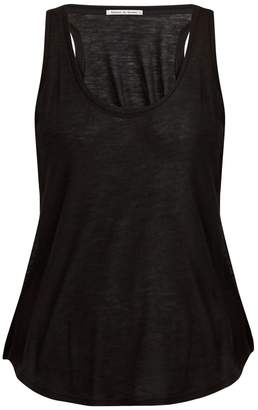 FRANCES DE LOURDES Patti round-neck cashmere and silk-blend tank top