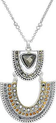 Lucky Brand Pave Tribal Pendant Necklace