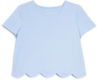 AQUA Girls' Scalloped Top - Big Kid $48 thestylecure.com