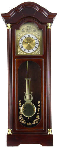Bedford Clock Chiming Wall Clock with Roman Numeral