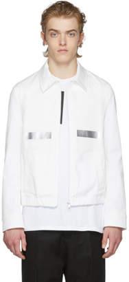 Neil Barrett White Tape Trim Blouson Jacket