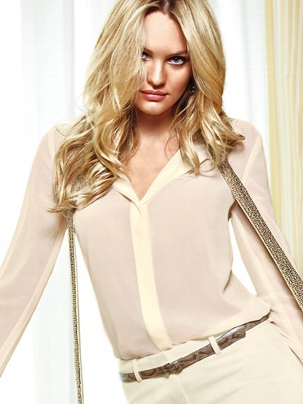 Victoria's Secret Tie-front Blouse