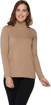Bob Mackie Bob Mackie's Long Sleeve Mock Neck Knit Top