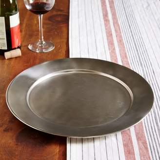 west elm Metal Charger - Pewter