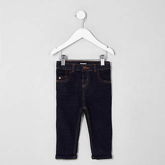 River Island Mini boys dark blue Sid skinny fit jeans