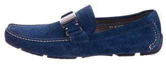 Salvatore Ferragamo Suede Driving Loafers w/ Tags