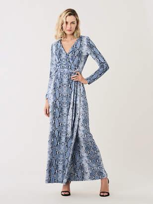 Diane von Furstenberg New Julian Silk-Jersey Maxi Wrap Dress