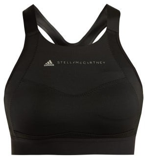 adidas by Stella McCartney Essential Racer Back Performance Bra - Womens - Black