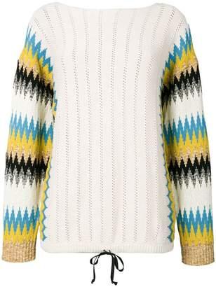 Roberto Collina zigzag sleeve sweater
