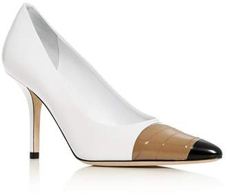 Burberry Women's Annalise Cap-Toe Pumps