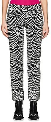 Helmut Lang WOMEN'S MOTLEY COTTON-SILK CUFFED PANTS
