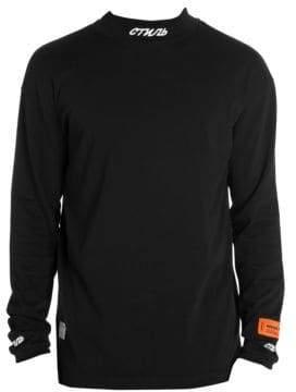 Heron Preston Men's Turtleneck Pullover - Black White - Size XXL