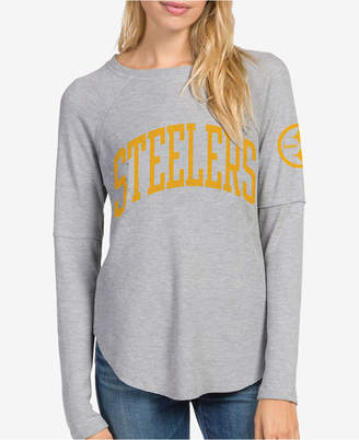 Junk Food Clothing Women Pittsburgh Steelers Thermal Long Sleeve T-Shirt