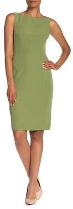 Milly Mika Boatneck Sleeveless Sheath Dress
