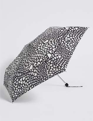 Marks and Spencer Heart Print Umbrella with Stormwear