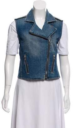 Paige Denim Embellished Denim Vest