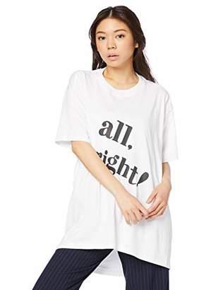 Snidel (スナイデル) - [スナイデル] ビックロゴTシャツ SWCT192120 レディース WHTxBLK 日本 F (FREE サイズ)