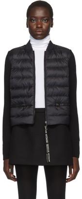 Moncler Black Knit Down Jacket