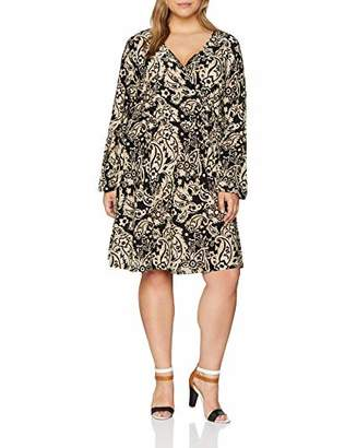 Yumi Women's Paisley Print Wrap Front Dress,(Size: )