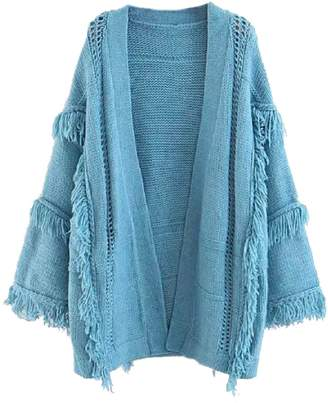 Goodnight Macaroon 'Martie' Fringed Throw On Cardigan (2 Colors)