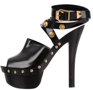 Versace Medusa Studded Platform Sandals