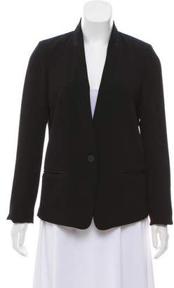 Isabel Marant Satin-Accented Collarless Jacket