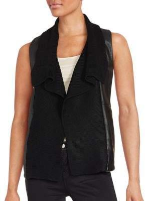 Saks Fifth Avenue RED Sleeveless Corduroy Vest