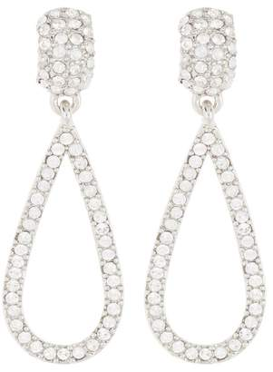 Carolee Double Teardrop Crystal Pave Earrings