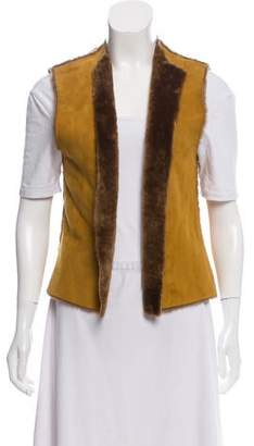 Theory Suede Shearling Vest