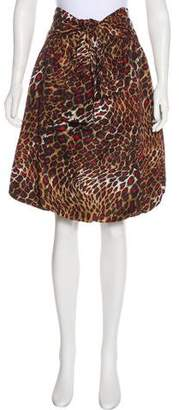 Ellen Tracy Printed Knee-Length Skirt