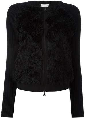 Moncler textured front ribbed cardigan