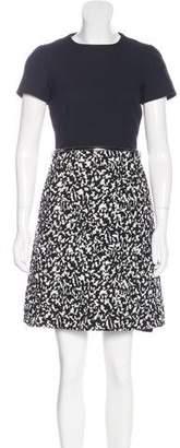 Proenza Schouler Tweed-Paneled Mini Dress w/ Tags