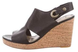 Via Spiga Leather Cutout Wedges