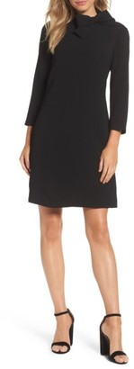 Women's Eliza J Bow Crepe A-Line Dress $148 thestylecure.com