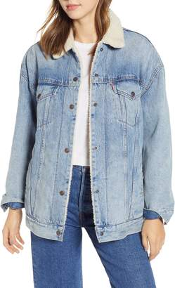 Levi's Oversize Faux Shearling Lined Trucker Jacket