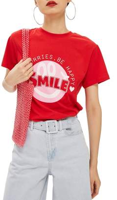 Topshop Smile Graphic Tee