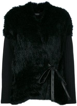 Twin-Set faux fur cardigan $529.35 thestylecure.com