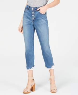 INC International Concepts I.n.c. High-Rise Lace-Trim Skinny Cropped Jeans, Created for Macy's