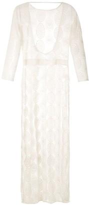 BRIGITTE sheer beach maxi dress