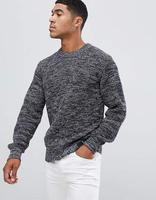 G Star G-Star navy waffle knit sweater in blue