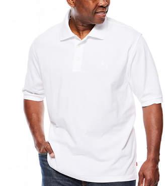 Izod Short Sleeve Pique Polo Shirt Big and Tall
