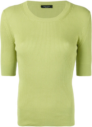 fitted ribbed T-shirt