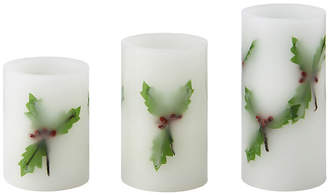 Pfaltzgraff Winterberry 3-pc. Flameless Candle