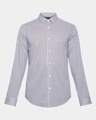 Theory Box Printed Standard-Fit Shirt